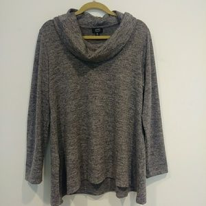 3/$18 Sale Jones New York Cowl Neck Grey Sweater